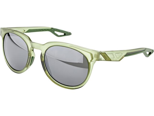 100% Campo Glasses matte translucent olive slate/black mirror